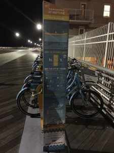 Bicycles can be rented on the Long Beach boardwalk for $5 an hour or $50 for the season