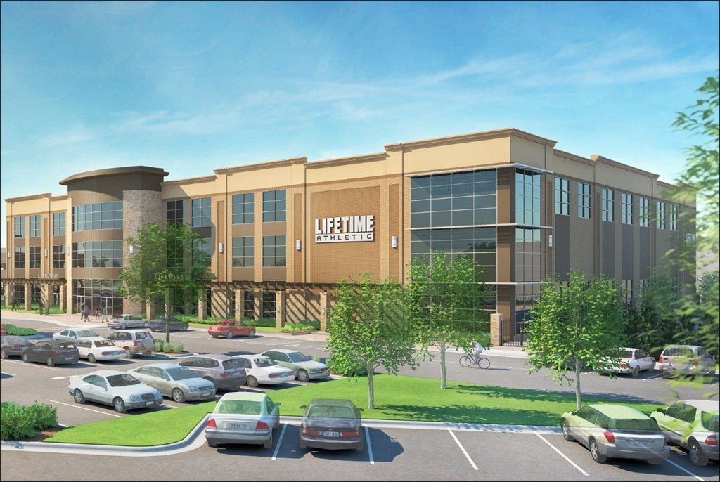An artist rendering of Life Time's Garden City location