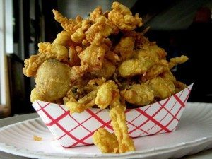 Fried Ipswich clams from Bigelow's