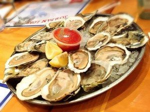 Fresh oysters at Jordan's Lobster Farms