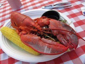 A fresh lobster from Jordan's in Island Park