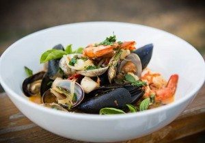 Delicious seafood stew (Photo by the Dreaming Tree Wines)