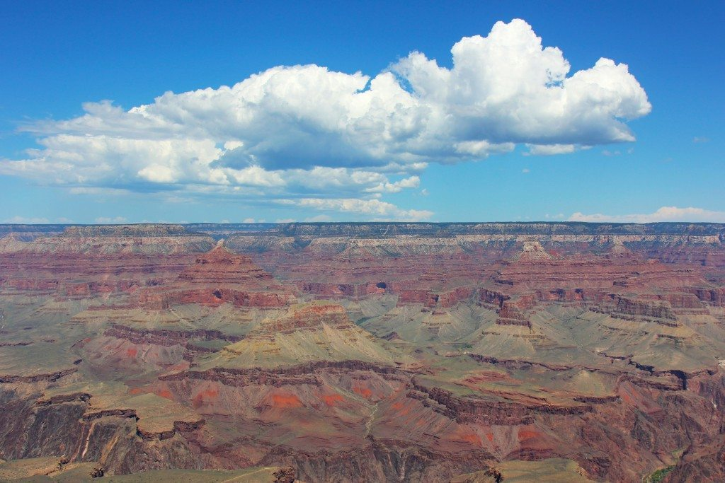 Grand Canyon on a sunny day (All photos by Kimberly Dijkstra)