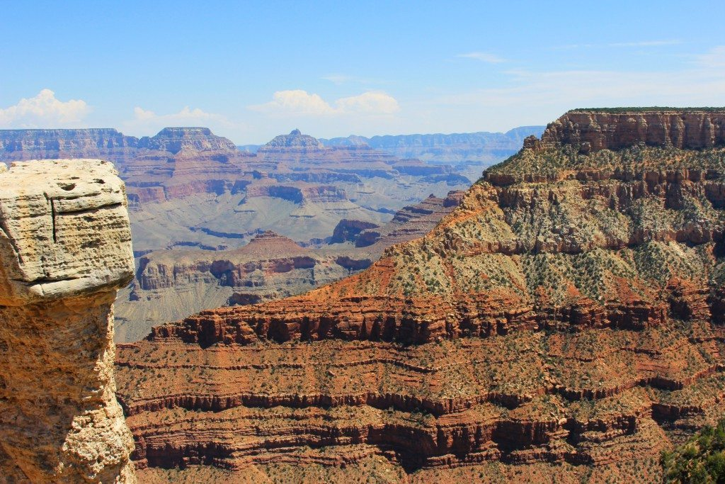 Rock layers of the Grand Canyon are up to two billion years old.