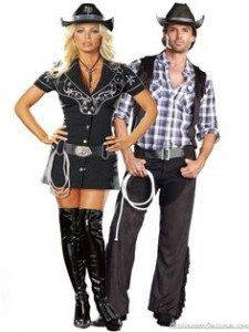Homemade cowboy costumes