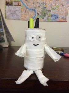 Toilet paper roll mummy candy holder