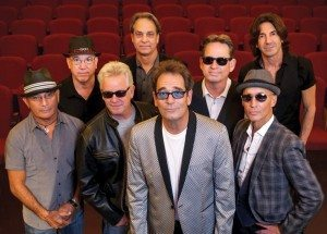 Huey Lewis (center) and The News