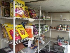 The St. Brigid's Parish food pantry which is open Mondays and Thursdays from 6 to 8 p.m.