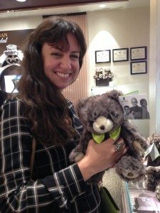 Theresa DePablo with a St. Jude bear