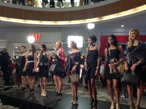 Fashion models showing off the new LeVian line