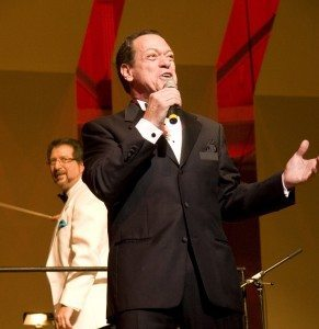 Joe Piscopo will sing while Louis Panacciulli, in back, will conduct the Nassau Pops Orchestra on Oct. 25