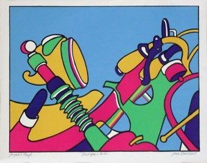 Jean Sariano Once Upon a Bike..... 1973. Lithograph and intaglio on paper. 20 x 25-1/2 in.