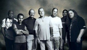 Warren Haynes (far right) with a latter-day lineup of The Allman Brothers Band