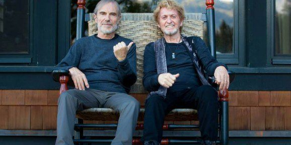 Jean-Luc Ponty (left) and Jon Anderson