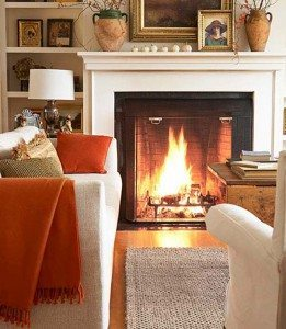 Changing a throw pillow can add a burst of seasonality to your room.