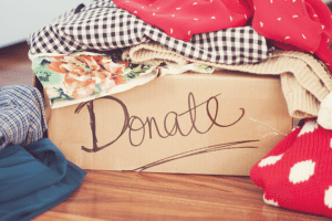 Fall is a great time to give away winter coats, hats, gloves to those less fortunate.
