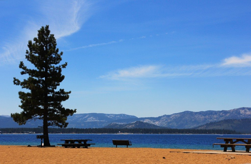 Find quiet refuge at Nevada Beach in Lake Tahoe.