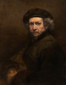 """Rembrandt's """"Self-Portrait with Beret and Turned-Up Collar"""" (1659) (Courtesy National Gallery of Art, Washington, DC)"""