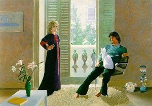 """David Hockney's """"Mr. and Mrs. Clark and Percy,"""" (1970–71) (Courtesy Tate Gallery, London)"""