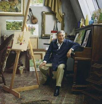 Tony Bennett at rest in his studio.