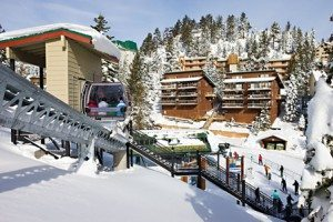 The Ridge Tahoe is a winter wonderland during the snowy season.