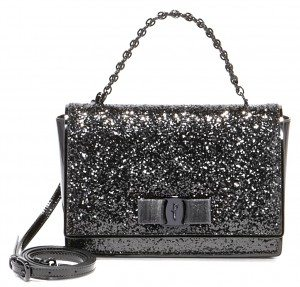 Salvatore Ferragamo's Small Vara Flap bag in glitter is the perfect party purse. (Photo by Salvatore Ferragamo)