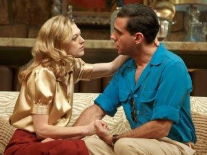 Marin Ireland as Marion Castle and Bobby Cannavale as Charlie Castle in The Big Knife
