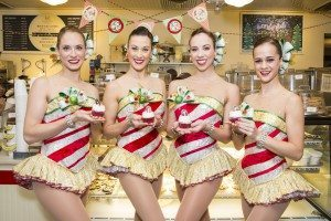 Rockettes from left: Samantha Beary Burns, Sara Hoenes, Amanda McCormick and Kristen Grace Smith (Photo by MSG Entertainment)