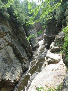 Discovered in 1765, the vertical-walled canyon made of 500-million-year-old rock, is the oldest natural attraction in the U.S. and has welcomed more than 10-million visitors. (Ausable Chasm photos by Sheri ArbitalJacoby)