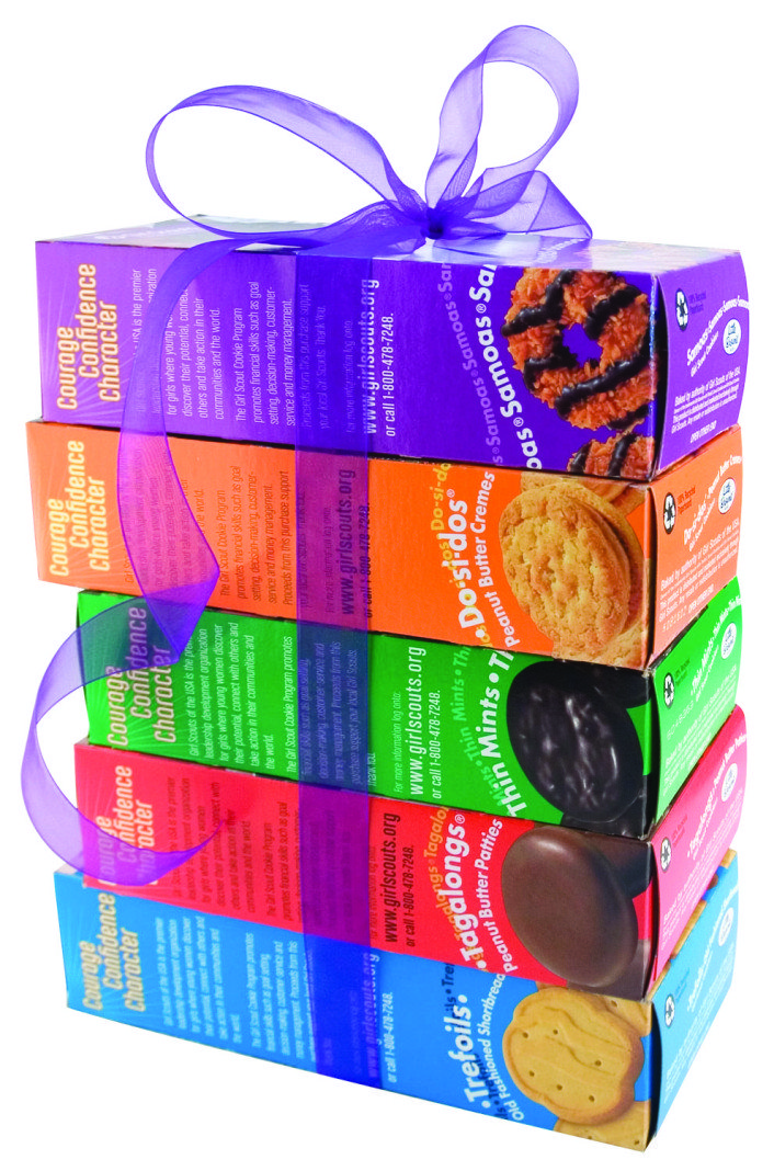 girl scout cookie boxes take the runway   long island weekly