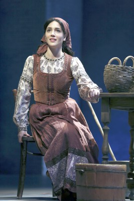 Samantha Massell plays Tevye's second daughter, Hodel.