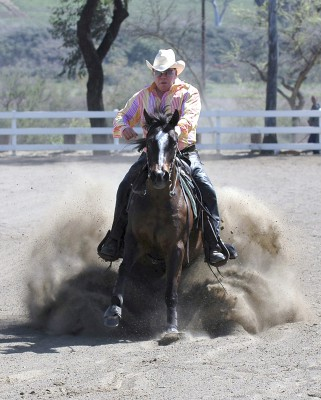 William Shatner horse reining (Photo by Daryl Weisser)