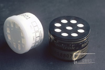 Some short-term radon testing kits are small canisters.