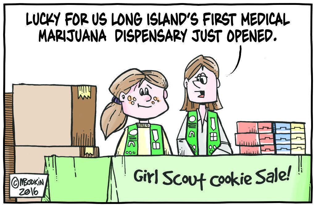 Girl Scout Cookies cartoon