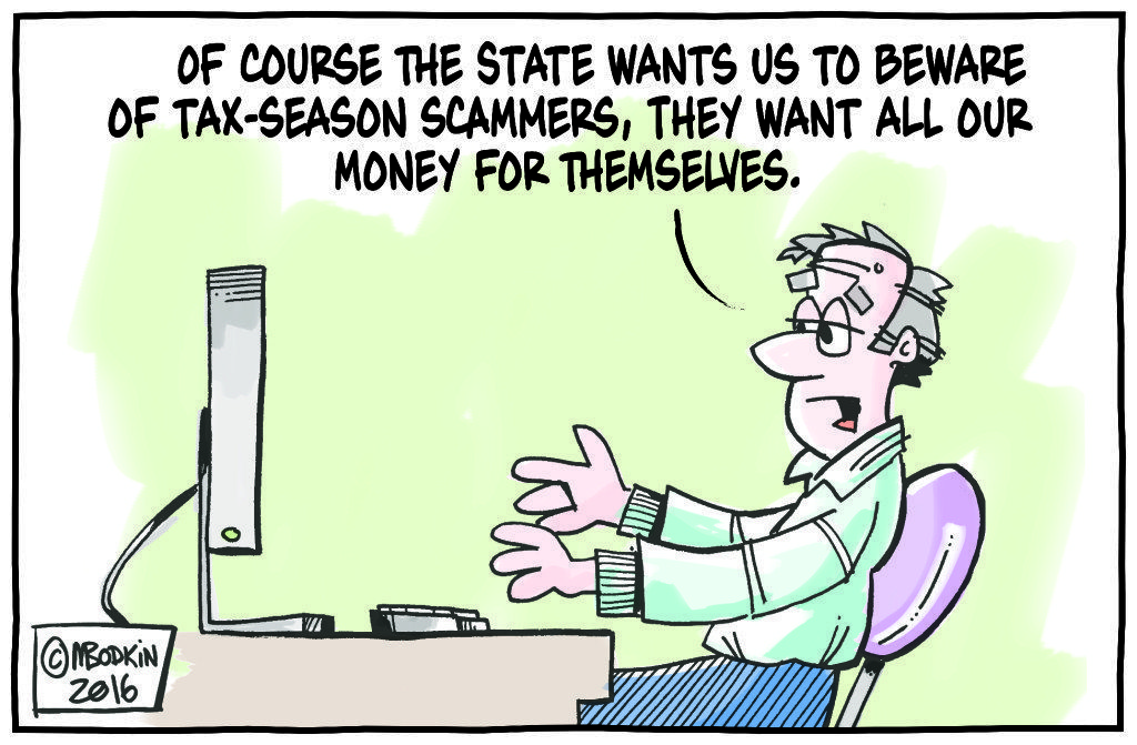 Tax Scam cartoon