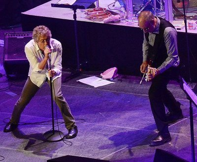 Roger Daltrey and Pete Townshend of The Who (Photo by Rick Diamond)
