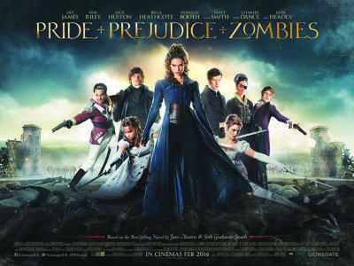 February Movie Previews Pride Prejudice and Zombies