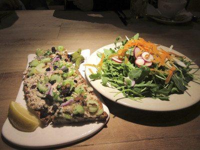 Tuna tartin and salad