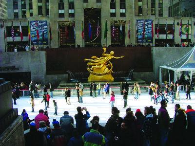 Go ice skating at Rockefeller Center for Valentine's Day.