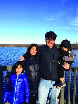 Lucas Sanchez and his family