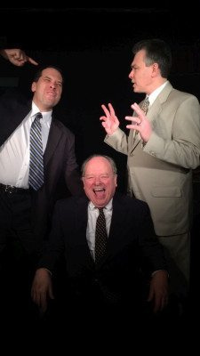 Among the cast of The Best Man are, from left, Ron Motta, Jim Bradley (seated) and Angelo Di Biase.