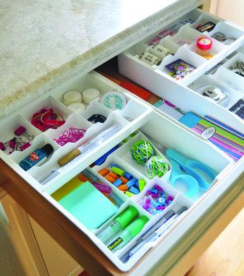 Get organized kitchen junk drawer