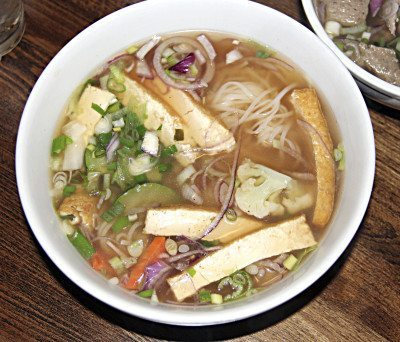 The Rolling Spring Roll Vegetarian pho