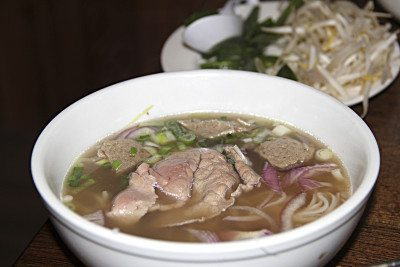 The Rolling Spring Roll Beef pho