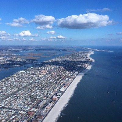 Aerial photograph of Long Beach