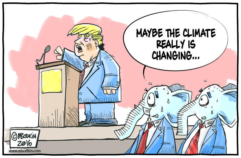 Trump climate change cartoon