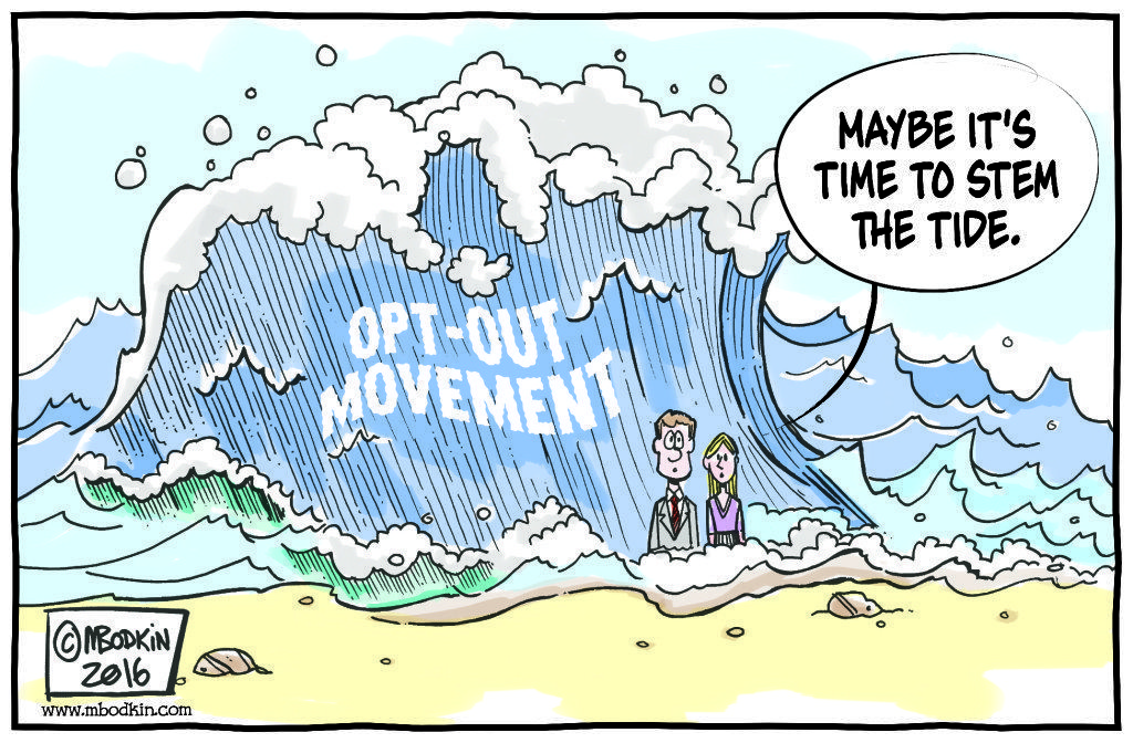 Opt Out Movement cartoon