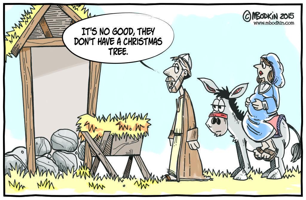 Manger Christmas cartoon