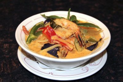 Frankly Thai Red curry with shrimp