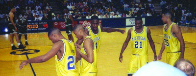 "The 1993 University of Michigan ""Fab Five."""